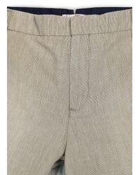 Mango Natural Linen Cotton Blend Bermuda Shorts for men