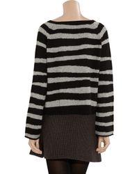 Zadig & Voltaire   Black Reglis Striped Cashmere Sweater   Lyst