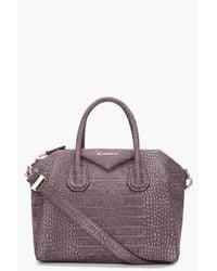 Givenchy | Gray Small Charcoal Antigona Bag | Lyst