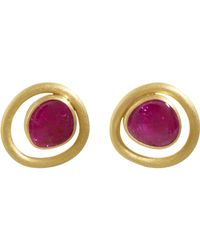 Mallary Marks - Purple Ruby Midcentury Post Quirky Earrings - Lyst
