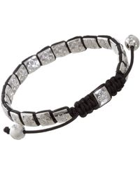 Shamballa Jewels Black Diamond Mini Flat Link Bead Bracelet