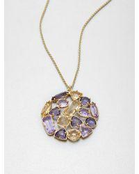 kate spade new york Metallic Multicolor Stone Cluster Pendant Necklace
