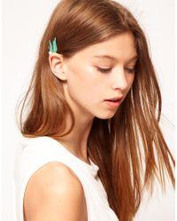 ASOS - Blue Winged Ear Cuff - Lyst