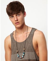 ASOS - Asos Bead and Straw Necklace for Men - Lyst
