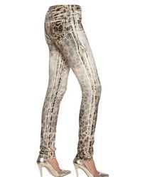 Blumarine - Multicolor Hand Waxed Stretch Cotton Denim Jeans - Lyst