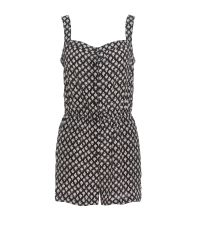 Boutique by Jaeger Black Layla Daisy Print Playsuit