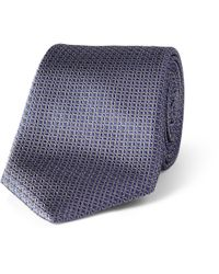 Canali Blue Multi Stripe Silk Tie for men