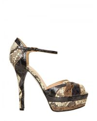 Ernesto Esposito | Multicolor 130mm Python Print Sandals | Lyst