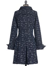 ModCloth - Blue Flock Of The Bay Coat in Trench - Lyst