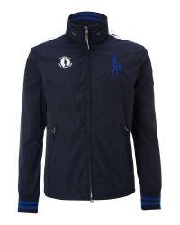 Ralph Lauren Golf Blue The Open Windbreaker Jacket for men