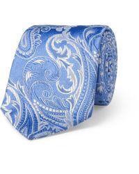 Turnbull & Asser Blue Paisley Wovensilk Tie for men