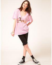 Wildfox Pink Foxy Tshirt