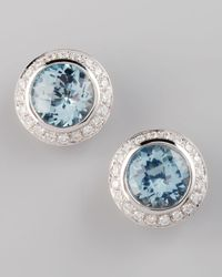 Frederic Sage | Blue Frederic Sage Mini Aquamarine Diamond Earrings | Lyst