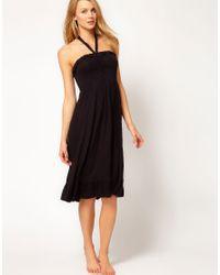 Freya Black Paradise Jersey Halter Beach Dress
