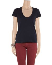 James Perse - Blue V-neck T-shirt - Lyst