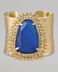 Kendra Scott | Lande Cuff Blue Agate | Lyst