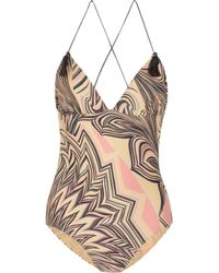M Missoni Pink Printed Swimsuit