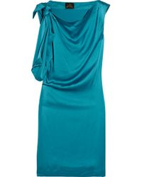 Vivienne Westwood Anglomania | Blue Dione Knotted Washed-silk Dress | Lyst