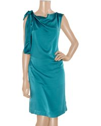 Vivienne Westwood Anglomania - Blue Dione Knotted Washed-silk Dress - Lyst