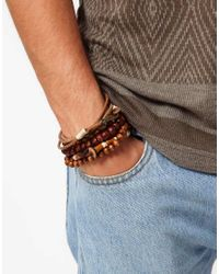 ASOS - Brown Pacific Bracelet Pack for Men - Lyst