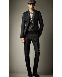 Burberry Prorsum | Blue Skinny Fit Quilt Detail Jacket for Men | Lyst