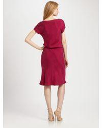 Josie Natori | Red Cowl Neck Dress | Lyst