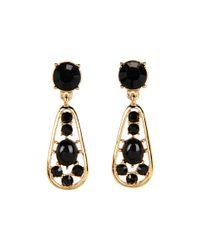 kate spade new york | Black Paisley Park Teardrop Earrings | Lyst