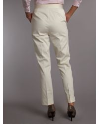 Lauren by Ralph Lauren Natural Straight Ankle Length Trouser