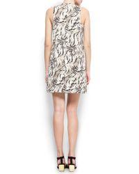 Mango Black Animal Print Dress