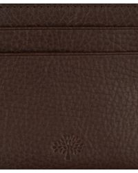Mulberry Brown Leather Credit Card Slip for men