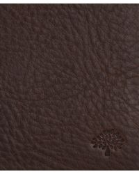 Mulberry Brown Leather Money Clip Wallet for men