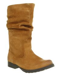 Office Natural Ned Slouch Boot Tan Suede