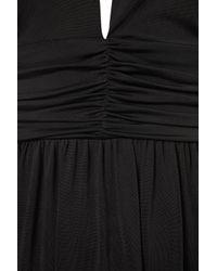 TOPSHOP Black Slinky Triangle Maxi Dress