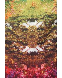 Glamorous Multicolor Long Sleeve Crochet Crop Top By