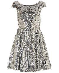 TOPSHOP | Metallic Sequin Skater Dress | Lyst