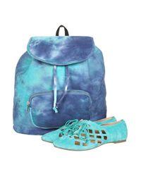 TOPSHOP Blue Tie Die Backpack