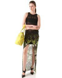 Helmut Lang - Multicolor Cicadae Print Slit Maxi Skirt - Lyst
