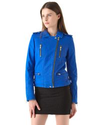 IRO - Blue Anabela Leather Jacket - Lyst