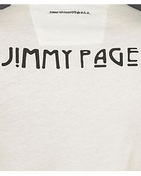 John Varvatos White Jimmy Page Graphic Tee for men