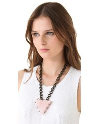 Kelly Wearstler | Metallic Quartz Triangle Necklace | Lyst