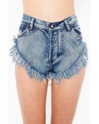 Nasty Gal | Blue Original Zzs Cutoff Shorts | Lyst