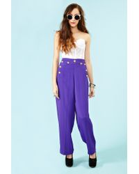 Nasty Gal - Purple Just Cruisin Palazzo Pants - Lyst