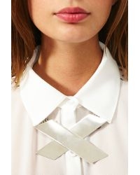 Nasty Gal Metallic X Rated Necklace