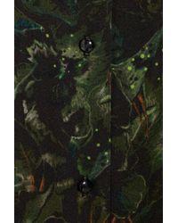 Rebecca Minkoff Green Kate Printed Silk Chiffon Shirt