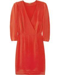 Rebecca Minkoff Red Karolina Silk Crepe Dress