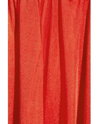 Rebecca Minkoff Red Long Dehlia Draped Silkjersey Maxi Dress