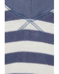 Splendid - Blue Striped Cottonjersey Top - Lyst