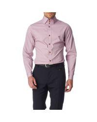 Vivienne Westwood Purple Three Button Slim Fit Single Cuff Shirt for men