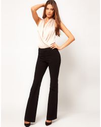 ASOS   Gray Smart Peg Trouser With Ruched Waist Detail   Lyst