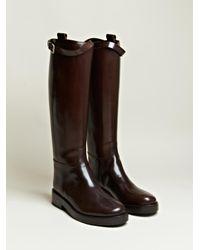 Ann Demeulemeester Brown Lucido Long Boots